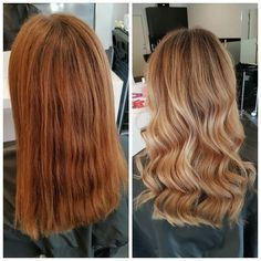 Color correction: From brass to sass 💋Our hair stylist Shabnam @rapunzeluppsala created this multidimensional gold and auburn look using #balayage technique. The waves are styled using the World Pro 25 mm iron ✨ Want this color for your extensions? Check out #27/613 + #16. #rapunzelofsweden