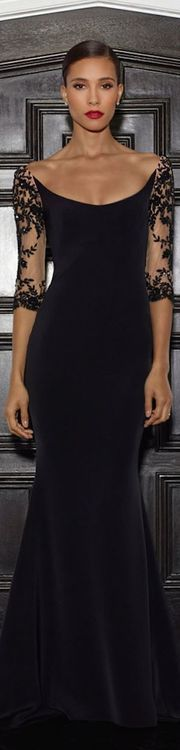 Valentina Alexandra - black lace gown - 2014
