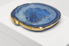 Blue agate, gold leafed edge...Love!