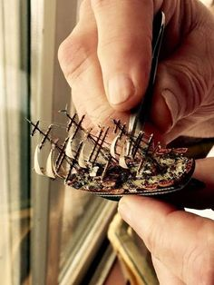 Xebec Wooden Model Ship The three masted Xebec was used for centuries in the Mediterranean as a merchant ship because of its spe. Model Sailing Ships, Model Ships, Model Ship Building, Boat Building, Junk Ship, Ship In Bottle, Uss Constitution, Wooden Ship, Tall Ships