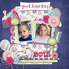 Layout using {Its My Hair Day} Digital Scrapbook Kit by LDrag Designs http://www.thedigichick.com/shop/It-s-My-Hairday-by-LDrag-Designs.html