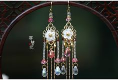 Bride Earrings, Drop Earrings, Chinese Hairpin, Rhinestone Jewelry, Hair Pins, Girly, Bling, Antiques, Accessories
