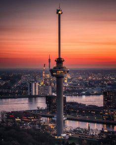 @Rottergram @malefijtfotografie Rotterdam, Paradise On Earth, Central Station, Urban Exploration, Netherlands, Skyscraper, Places To Visit, Skyline, City