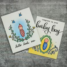 Waffle Flower Baby Cards Baby Girl Cards, Baby Boy, Cut Image, Alcohol Markers, First Baby, Distress Ink, Flower Cards, Happy Day, I Card
