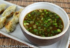 For the Love of Cooking » Pot Sticker Dipping Sauce...and I dipped my Alton Brown perfect potstickers into this yummy dipping sauce! Note: I did add the sriracha for a bit of a bite and I used my garlic press for the minced garlic because I love fresh garlic!