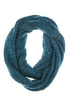 Tyler Infinity Scarf in Turquoise on Emma Stine Limited