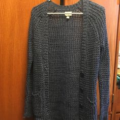 REDUCED American Eagle cardigan BRAND NEW!! Long and warm navy colored cardigan, can be buttoned up, match with anything for a cute comfy style American Eagle Outfitters Sweaters Cardigans