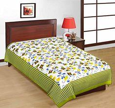 Odishabazaar Sanganeri Printed Cotton Single Bedsheet Bedcover in Green Odishabazaar http://www.amazon.com/dp/B01CJHD54Y/ref=cm_sw_r_pi_dp_pZ6.wb04CK0CA