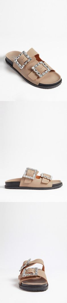 LFL by Lust for Life Faux Leather & Gem Sandals // 38.00 USD // Forever 21