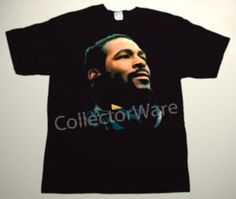 MARVIN GAYE drawing 2 CUSTOM ART UNIQUE T-SHIRT    Each T-shirt is individually hand-painted, a true and unique work of art indeed!  To order this, or design your own custom T-shirt, please contact us at info@collectorware.com, or visit to http://www.collectorware.com/tees-marvin_gaye.htm