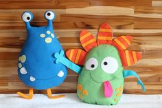Felt Animal Patterns, Stuffed Animal Patterns, Monster Birthday Parties, Monster Party, Operation Christmas Child Boxes, Monster Toys, Ugly Dolls, Fabric Toys, Animal Pillows