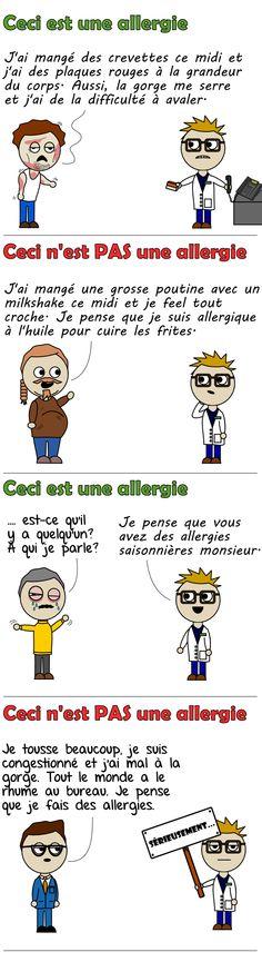 Les allergies alimentaires vues par Le Pharmachien. Ahhh les allergies… si menaçantes mais ô combien incomprises!