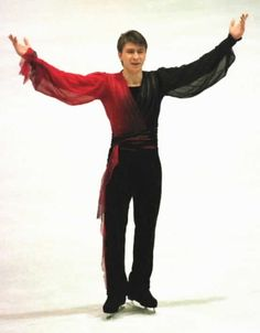 Alexei Yagudin skating to Chopin's Revolutionary Étude for his short program at the 2000 Europeans. Photo by Barry Mittan.
