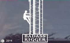 TNT: Die-Cut Window Decal or Sticker for tower riggers :o) Tower Climber, Hard Hat Stickers, Window Detail, Window Stickers, White Vinyl, Gift Store, Climbers, Consumer Electronics, Badass