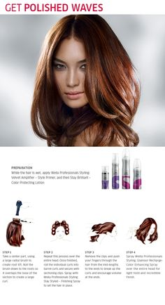 Polished waves in 4 easy steps #HairHowTo