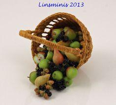 An Autumn harvest of apples, pears, blackberries & cobnuts