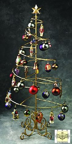 Ornament Trees - Spiral Wire Ornament Tree - 4 Foot, Ornament Trees, Christmas  Ornament Stands and Hooks, Multiple Ornament Trees