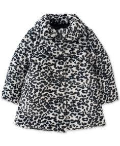Calvin Klein Jeans Little Girls' Leopard Faux-Fur Coat - Kids & Baby - Macy's