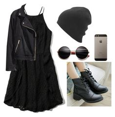 """""""Emo-Gothic"""" by thaisa-tcs ❤ liked on Polyvore featuring Abercrombie & Fitch, H&M, Pangmama, women's clothing, women, female, woman, misses and juniors"""