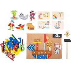 """""""Piratul"""" Joc cu Ciocan Pirate Party, Pirate Theme, Pirates, Wooden Toys, Mini, Kids Rugs, Arts And Crafts, Ebay, Children"""