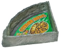 "Zoo Med Reptile Rock Corner Water Dish, X-Large 13.9""x13.9"" perfect for tortoise in the large 55 gallon tank. $20 on Amazon"