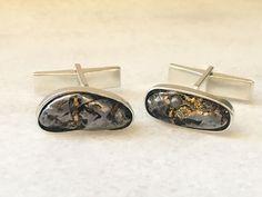 Meteorite Cufflinks | unique men cufflinks | unique cufflinks men | bestman gift | best men gift ideas | groom cufflinks | Andrea Vidmar - product images  of