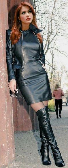 Dream a little Dream of Me My Sweet Foxy Lady - - dominatrixes - Jupe Legging Outfits, Leather Leggings Outfit, Leder Outfits, Skirt Outfits, Dress Skirt, Fashion Moda, 70s Fashion, Look Fashion, Womens Fashion