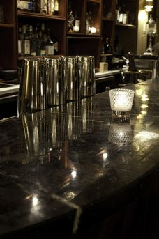 black marble w/white vein bar top Pubs and bars, bar review - diffordsguide