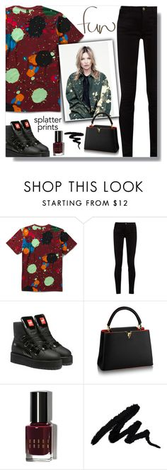 """""""Splatter Prints"""" by farmgirl2015 ❤ liked on Polyvore featuring Dr. Martens, Gucci, Puma and Bobbi Brown Cosmetics"""