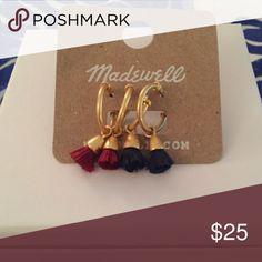 Madewell small tassel earrings 2 pairs of brand new tassel earrings Madewell Jewelry Earrings