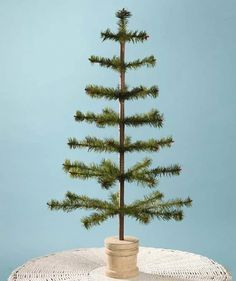 Bethany Lowe 30 Olive Green Feather Christmas Tree Spool Base *** Click image for more details. (This is an affiliate link)