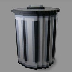 DIY Pixel Trash Can ... this one is made of  plywood, but I bet it could be made with foam core as well. Gotta try it sometime!