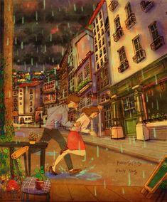 ¡Corramos Mí Vida! ¡Que la Lluvia No Nos Alcance Mí Corazón!