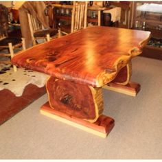 Cedar table Cedar Table, Cedar Bench, Wooden Tables, Wood Slab Table, Rustic Table, Rustic Wood, Cedar Furniture, Rustic Log Furniture, Live Edge Furniture