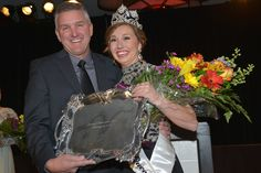 Emily Brown chosen to be 2015 National Watermelon Queen! Here with President Dennis Mouzin at the annual convention in LaQuinta, California. See more photos on www.watermelon.ag!