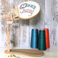 Embroidery Seat Frame for all your stitching projects; comfortably holds Tapestry Frames up to 12 (30cm), Embroidery Hoops up to 12 (30cm) and Quilting Hoops up to 10 (25cm). Fully adjustable and made from hardwood, this lightweight stand will take your needle work hands free.