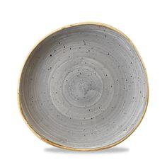 "Churchill Stonecast Peppercorn Grey Organic Round Plate 8.25"""