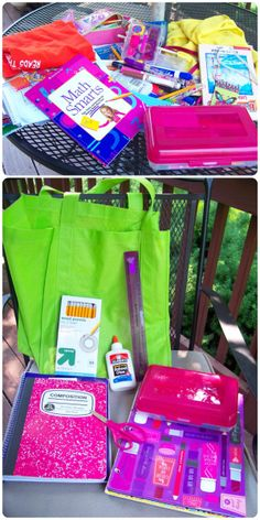 Tips to quickly organize school supplies on the last day of school that will save you a ton of time and $$ at back to school time!