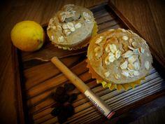 Zesty oat muffins with yuzu, raisin and cinnamon.