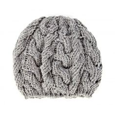 Cable Knit Beret  - Grey