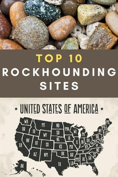 For rock collectors, there are many places to go in the United States. From Arizona, Oregon, Utah and Nevada to Michigan and beyond. There are rocks, minerals and precious stones to be found just about everywhere! Here is a list of the top 10 best rockhounding sites in the United States. If you're a rockhound, you'll want to check out this list and plan your next road trip around hitting some of these collecting sites open to the public. Minerals And Gemstones, Rocks And Minerals, Rock Identification, Geode Rocks, Gem Hunt, Rock Tumbling, Rock Hunting, Rock Collection, Rocks And Gems