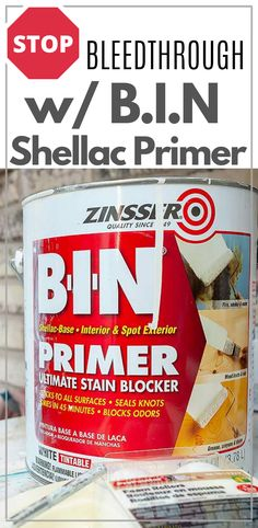 In my humble opinion, B-I-N Shellac Based Primer is one of those products. It's a time saving stain-blocking primer that gives a visual along with the confidence to paint without worry. Salvaged Furniture, Diy Furniture Redo, White Painted Furniture, Furniture Repair, Dixie Belle Paint, Shellac, Being Used, Cleaning Hacks, Save Yourself