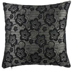 Simao Lace Cushion Silver