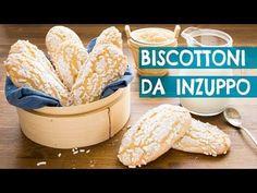 I Morbidosi - Biscottoni da Inzuppo | Ricetta Facile per una Colazione Sana e Golosa | 55Winston55 - YouTube Italian Cookies, Italian Desserts, Italian Recipes, Burritos, Baking Recipes, Cookie Recipes, Biscuits, Croissant, Nutella