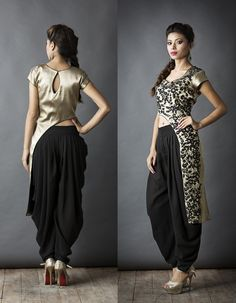 Sa'irah By Roopsi Suri Waist cut with dhoti pants