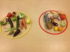 sorting veg from fruit Kids Food Crafts, Preschool Food, Restaurant Themes, Pizza Restaurant, Fruit And Veg, Fruits And Veggies, Healthy Pizza Recipes, Happy Foods, Food Themes