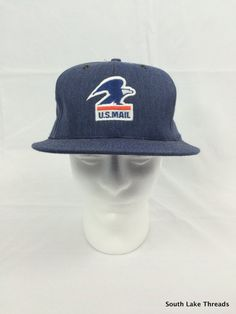 Vintage USPS United State Postal Service Hat Snapback Great for Halloween, Colletible Rare Great Shape Very High Quality Authentic