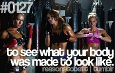 #0127 to see what your body was made to look like- Everyones toned bodies and abs in particular look different, can't wait to see how mine look :)