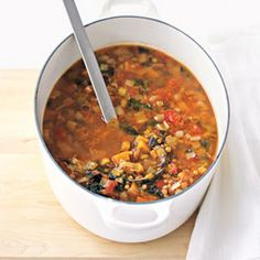 Keep warm with this #winter #lentil #soup
