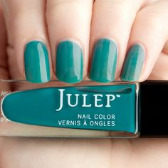 Julep Laveena: Lush jungle teal jelly nail polish